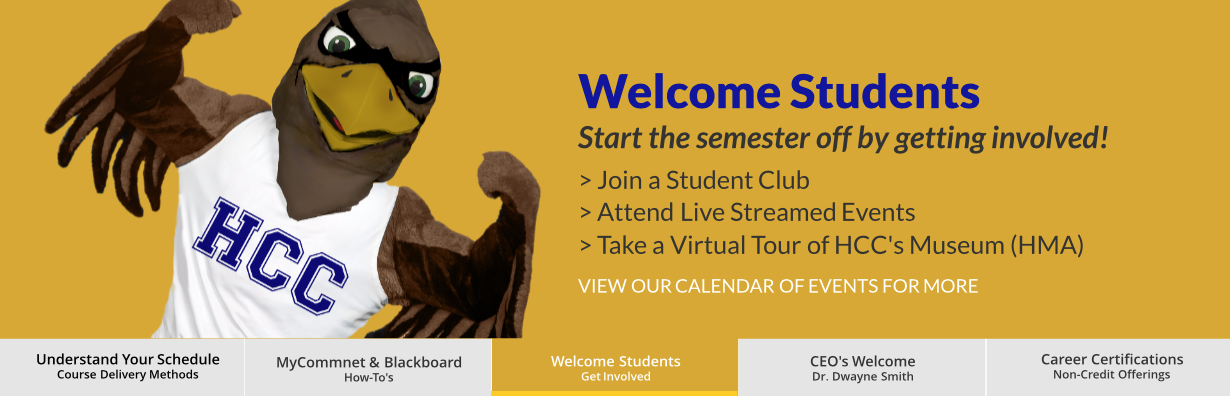 Welcome Students! Join A Student Club, Attend Live Streamed Events, Take A Virtual Tour of HMA
