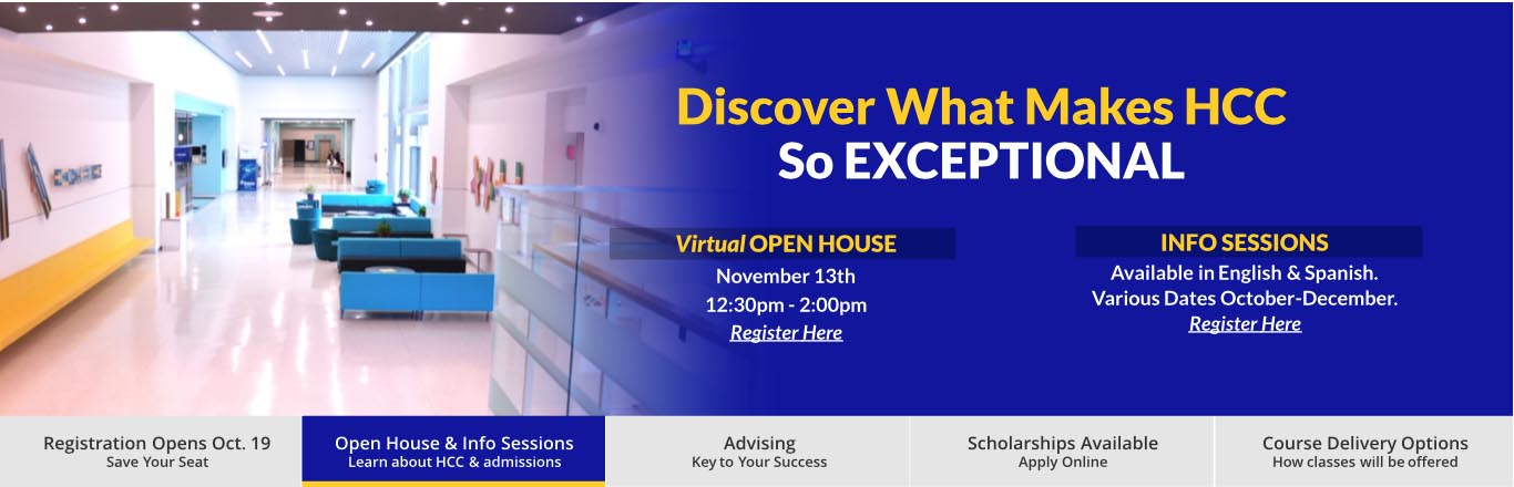 Open House and Info Sessions