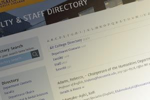 Faculty and Staff Directory